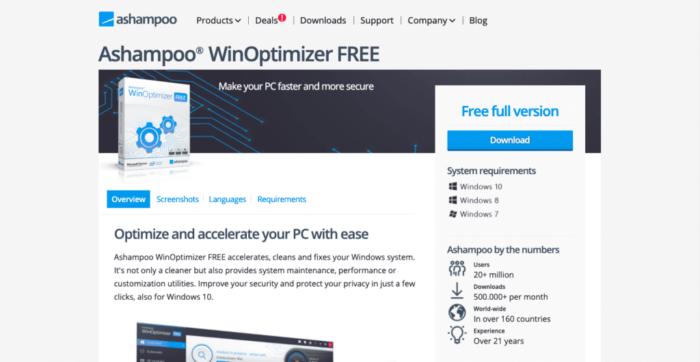 Ashampoo WinOptimizer Free is another best PC optimization tool