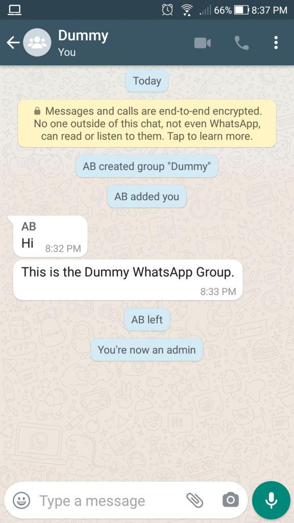Delete WhatsApp group permanently